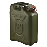 05552 Scepter NATO jerry can (military fuel can) 20L Olive Drab with Red Strap which notes PETROL