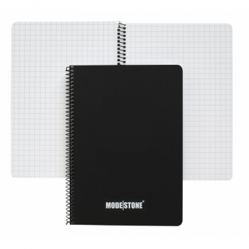 MODESTONE A4 210x297 mm SIDE SPIRAL waterproof notebook BLACK 50sheets/100pages
