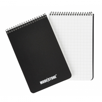 MODESTONE A303 96x148 mm TOP SPIRAL waterproof notebook BLACK 30sheets/60pages