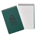 MODESTONE A33MIL 96x148 mm TOP SPIRAL waterproof notebook GREEN 50sheets/100pages