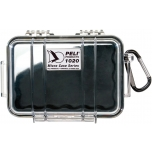 Peli 1020 Micro Case, NO FOAM, Black, interior 13,5x9x4,3 cm