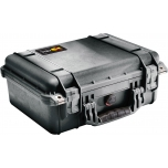 Peli Case 1450EU, WITH FOAM, Black, Interior 30,1x22,8x13,1 cm