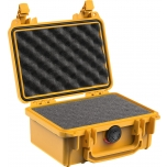 Peli Case 1120, WITH FOAM, Yellow, Interior 18,5x12,1x8,5 cm