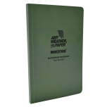 MODESTONE B23 118x183 mm FLEXIBLE SIDE BOUND waterproof notebook GREEN 64sheets/128pages