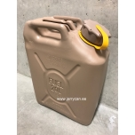05577Y Scepter jerry can (military fuel can) 20L Sand / Yellow strap notes DIESEL